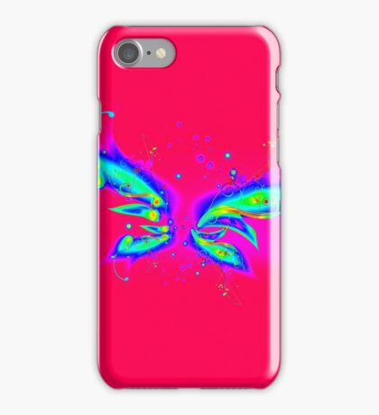 Abstract Psychedelic Space Wings iPhone Case/Skin
