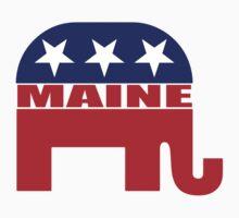 Maine Republican Elephant Kids Tee