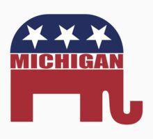 Michigan Republican Elephant Baby Tee