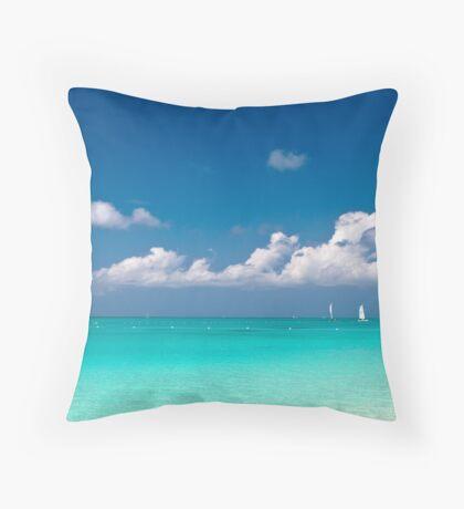 Grace Bay in Turks & Caicos Throw Pillow