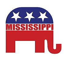 Mississippi Republican Elephant Photographic Print
