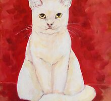 White Cat Stance by Carole Chapla