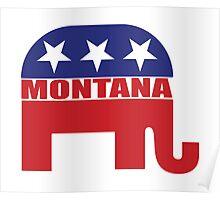 Montana Republican Elephant Poster