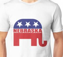 Nebraska Republican Elephant Unisex T-Shirt