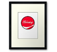 Enjoy Brewing Framed Print