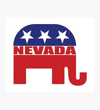 Nevada Republican Elephant Photographic Print