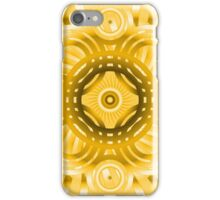 Abstract Yellow Circles Pattern iPhone Case/Skin