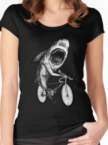 Shark Ride Bicycle  Women's Fitted Scoop T-Shirt