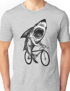 Shark Ride Bicycle  Unisex T-Shirt