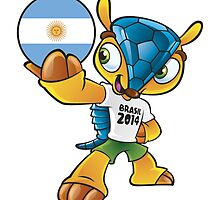 World cup mascot love argentina by miky90