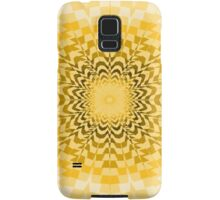 Abstract Yellow Radial Pattern Samsung Galaxy Case/Skin