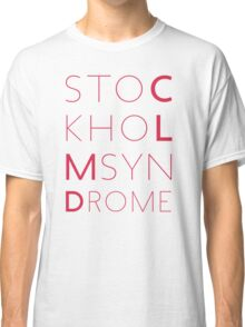 CLMD - The Stockholm Syndrome Coral Typography Classic T-Shirt
