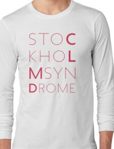 CLMD - The Stockholm Syndrome Coral Typography Long Sleeve T-Shirt