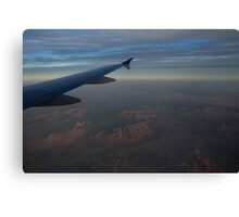 Flying Over the Mojave Desert at Dawn Canvas Print