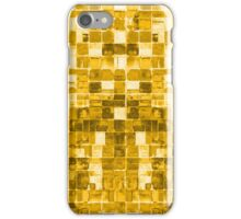 Abstract Yellow Squares iPhone Case/Skin