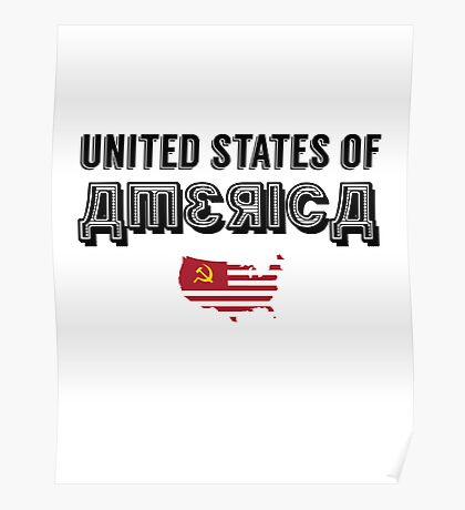 Commie Series - United States of America Poster