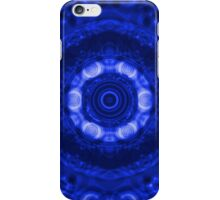 Abstract Blue Circles Pattern iPhone Case/Skin