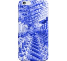 Abstract Blue Shapes Pattern iPhone Case/Skin