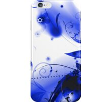 Blue Vector Flourishes iPhone Case/Skin