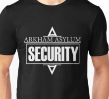 Arkham Asylum // Security Design // White Font Unisex T-Shirt