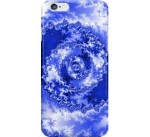 Abstract Blue Radial Pattern iPhone Case/Skin