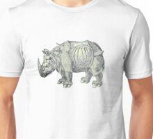 Vintage Rhinoceros Drawing Unisex T-Shirt