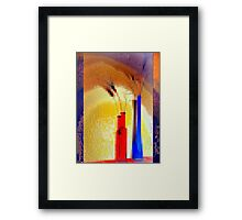 Crystallization of abstract reality Framed Print