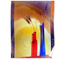Crystallization of abstract reality Poster