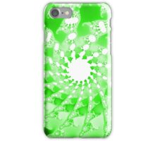 Abstract Green Fractal Spirals iPhone Case/Skin