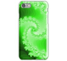 Abstract Green Fractal Spiral iPhone Case/Skin