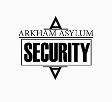 Arkham Asylum // Security Design // Black Font Unisex T-Shirt
