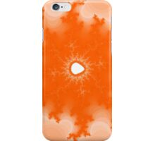 Abstract Orange Lightning Fractal iPhone Case/Skin