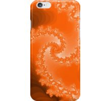 Abstract Orange Fractal Spiral iPhone Case/Skin