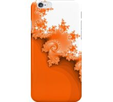 Abstract Orange Fractal Spirals iPhone Case/Skin
