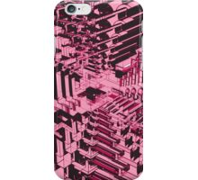 Abstract Pink Shapes Pattern iPhone Case/Skin