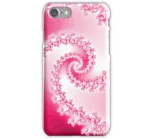 Abstract Pink Fractal Spiral iPhone Case/Skin