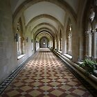 Abbey hallway by triciamary