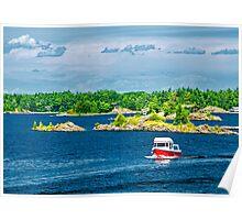 Boat on Georgian Bay Poster