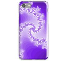 Abstract Purple Fractal Spiral iPhone Case/Skin