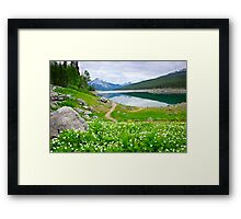 Mountain lake in Jasper National Park, Canada Framed Print