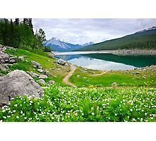 Mountain lake in Jasper National Park, Canada Photographic Print