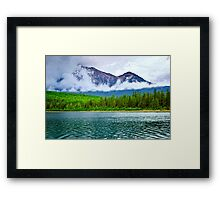 Mountain lake in Jasper National Park Framed Print