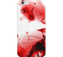 Abstract Red Flourishes iPhone Case/Skin
