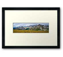 Panorama of Rocky Mountains in Jasper National Park, Canada Framed Print