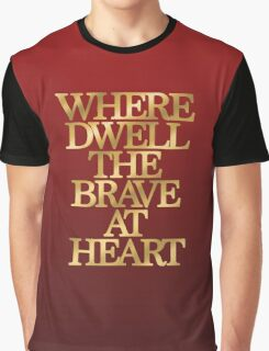 Gryffindor - Where Dwell the Brave at Heart Graphic T-Shirt