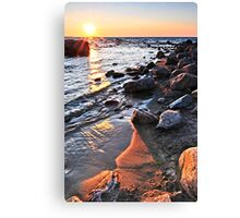 Sunset over water Canvas Print