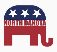 North Dakota Republican Elephant Kids Tee