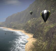 Balloons in Paradise by Bidja