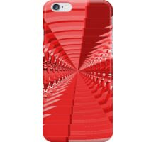 Abstract Red Shapes Pattern iPhone Case/Skin