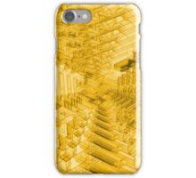 Abstract Yellow Radial Pattern iPhone Case/Skin
